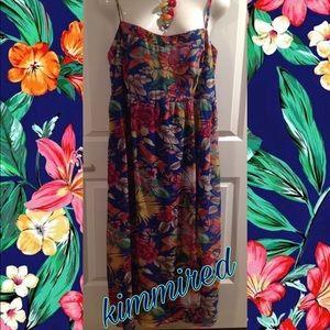 🆕Forever 21 Floral Spaghetti Strap Maxi Dress~ 3X